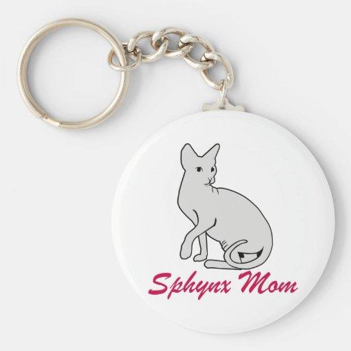 Mamá de Sphynx Llavero Personalizado