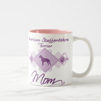 Mamá de Staffordshire Terrier americano Taza Dos Tonos