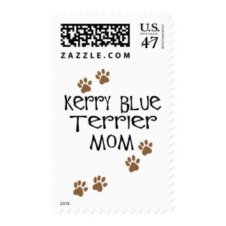 Mamá de Terrier de azul de Kerry Estampillas