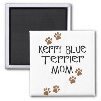Mamá de Terrier de azul de Kerry Imán Cuadrado