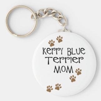 Mamá de Terrier de azul de Kerry Llavero Redondo Tipo Pin