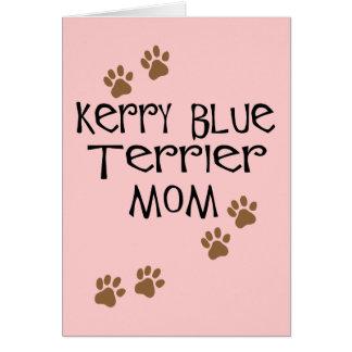 Mamá de Terrier de azul de Kerry Tarjeta De Felicitación