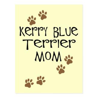 Mamá de Terrier de azul de Kerry Tarjeta Postal