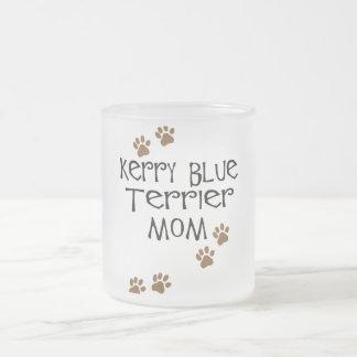 Mamá de Terrier de azul de Kerry Taza De Cristal