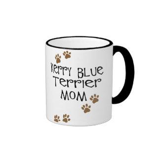 Mamá de Terrier de azul de Kerry Taza De Dos Colores