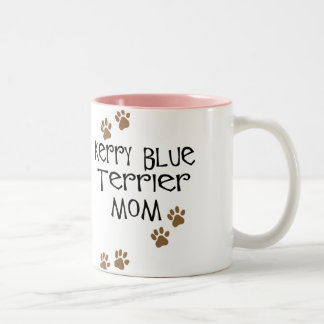 Mamá de Terrier de azul de Kerry Taza De Dos Tonos
