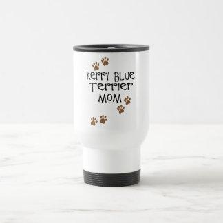 Mamá de Terrier de azul de Kerry Taza Térmica