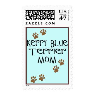 Mamá de Terrier de azul de Kerry Timbre Postal