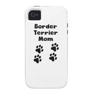 Mamá de Terrier de frontera iPhone 4/4S Funda