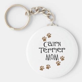 Mamá de Terrier de mojón Llavero Redondo Tipo Pin