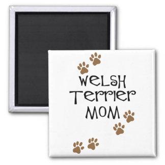Mamá de Terrier galés para las mamáes del perro de Imán Cuadrado
