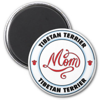 Mamá de TERRIER TIBETANO Iman Para Frigorífico