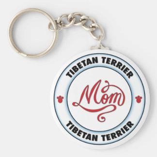 Mamá de TERRIER TIBETANO Llaveros Personalizados