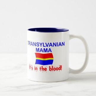 Mamá de Transylvanian - sangre Taza De Café De Dos Colores