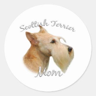 Mamá (de trigo) 2 de Terrier del escocés Pegatinas Redondas