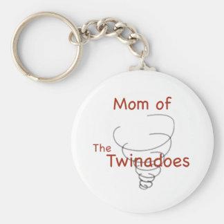 Mamá de Twinadoes Llavero Redondo Tipo Pin