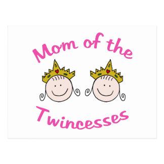Mamá de Twincess Tarjeta Postal