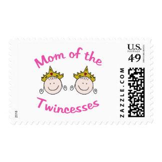 Mamá de Twincess Timbre Postal