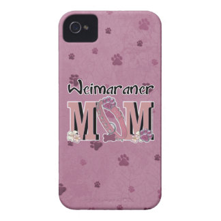 MAMÁ de Weimaraner Case-Mate iPhone 4 Cárcasa