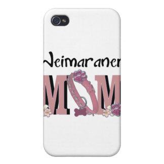 MAMÁ de Weimaraner iPhone 4 Protectores