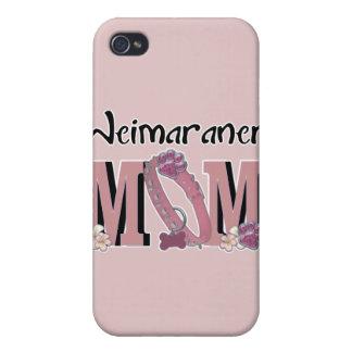 MAMÁ de Weimaraner iPhone 4 Fundas