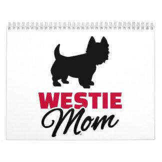 Mamá de Westie Calendario De Pared