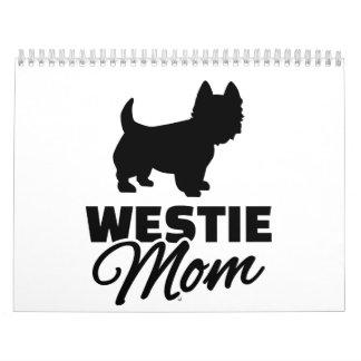 Mamá de Westie Calendarios