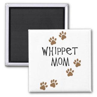 Mamá de Whippet para las mamáes del perro de Whipp Imán Cuadrado