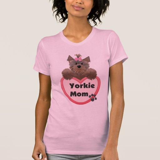 Mamá de Yorkie Playera