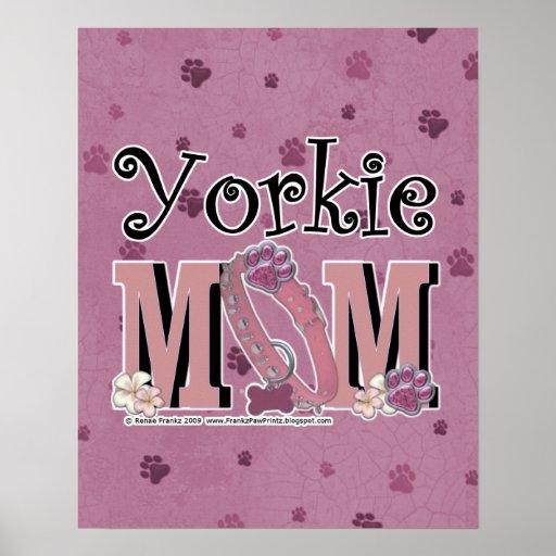 MAMÁ de Yorkie Posters