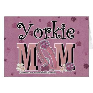MAMÁ de Yorkie Tarjeta De Felicitación