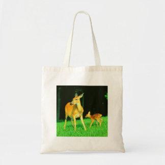 Mama Deer & Baby Fawn Budget Tote Bag
