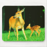 Mama Deer & Baby Fawn Mouse Pad