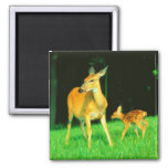 Mama Deer & Baby Fawn Refrigerator Magnet