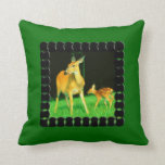 Mamá Deer y cervatillo del bebé Almohadas