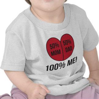 mamá del 50%, papá del 50%, 100% yo camisetas