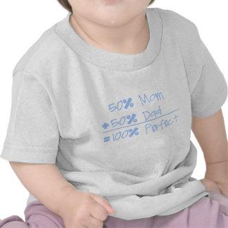 Mamá del 50% + Papá del 50% del = camiseta del niñ