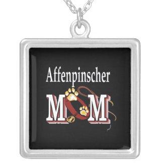 Mamá del Affenpinscher Colgante Cuadrado