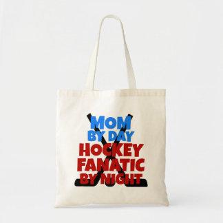 Mamá del amante del hockey bolsa tela barata