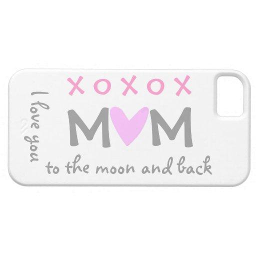 mamá del amor a estar en la luna y caso trasero de iPhone 5 cárcasa