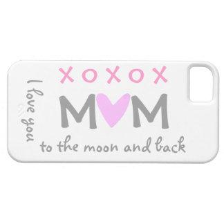 mamá del amor a estar en la luna y caso trasero iPhone 5 fundas