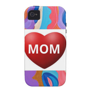 Mamá del amor de la pluma iPhone 4 carcasas