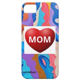 Mamá del amor de la pluma iPhone 5 funda