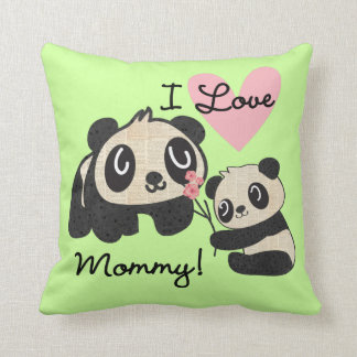 Mamá del amor de las pandas I Cojín