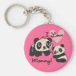 Mamá del amor de las pandas I Llaveros