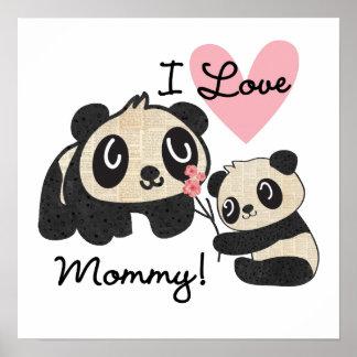 Mamá del amor de las pandas I Posters