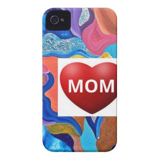 Mamá del amor del flor Case-Mate iPhone 4 protectores