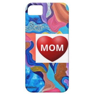 Mamá del amor del flor funda para iPhone 5 barely there