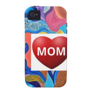 Mamá del amor del flor vibe iPhone 4 funda