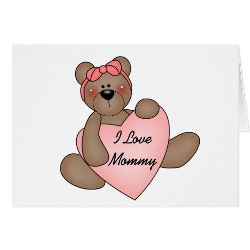 Mamá del amor del oso I Tarjeton